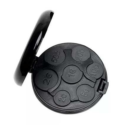 Coinat - Coin Holder Special Made for Euro - Black