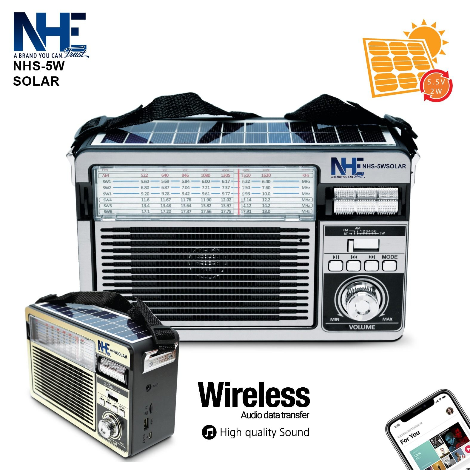 NHE Solar Speaker - NHS-5W
