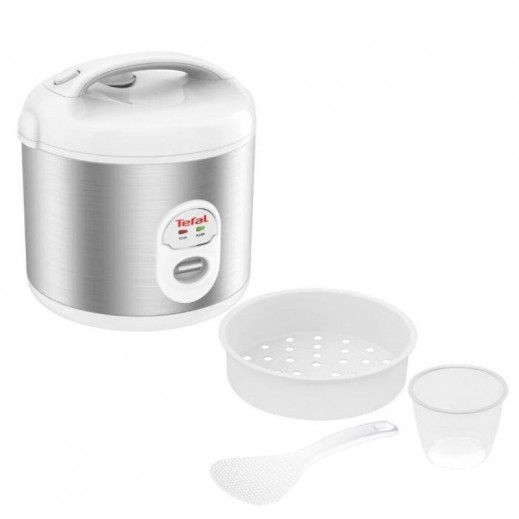 Tefal Rice Cooker 10 Cups - 1.8L - Silver - 600W - RK242127