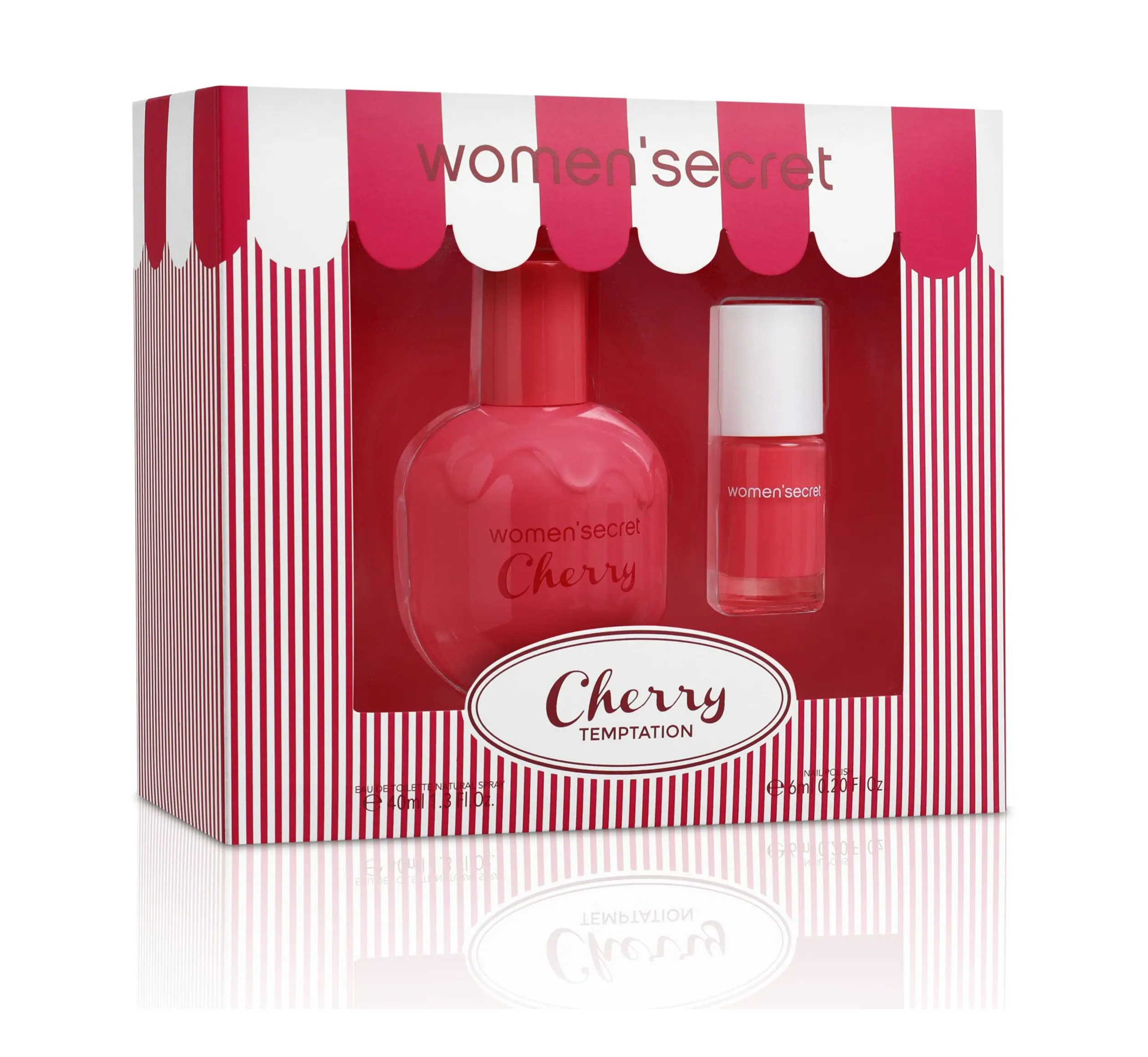 Women Secret Cherry Temptation Set EDT 40 ml + Nail Polish 6ml